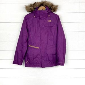 The North Face Deluxe Baker Snow Jacket Purple